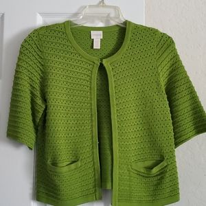 Chico's Chartreuse Green Cardigan Sweater